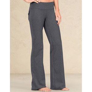 Athleta Heather Gray Fusion Yoga Pants Size MT